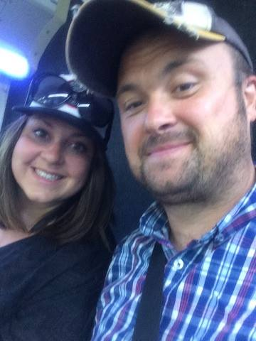 space mountain couple selfie