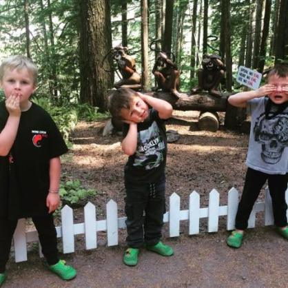 Three Wise Monkeys Enchanted Forest