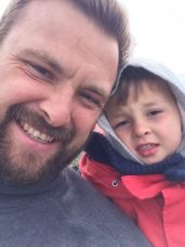 mike and theo whale watching