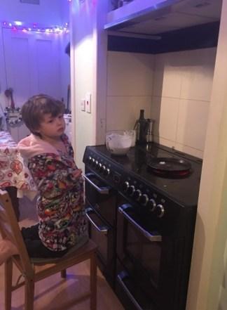 theo making pancake